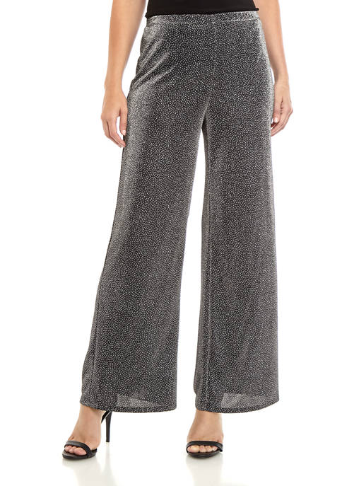 Womens Pull On Sparkle Knit Pants