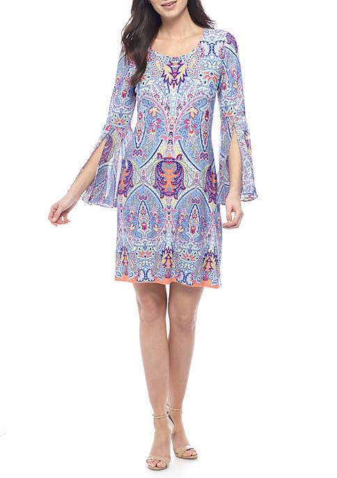 Bell Sleeve Woven Dress