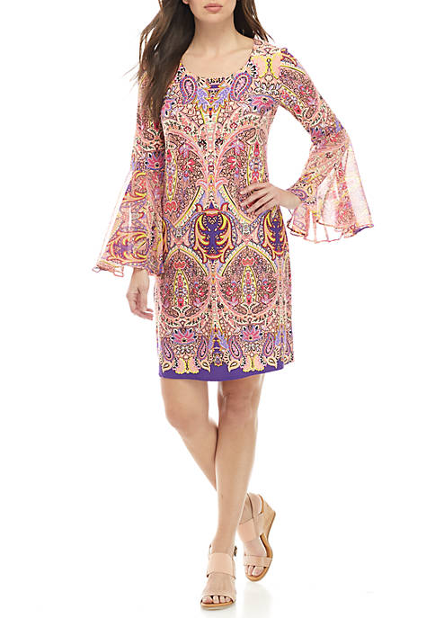 IVY ROAD Bell Sleeve Woven Dress