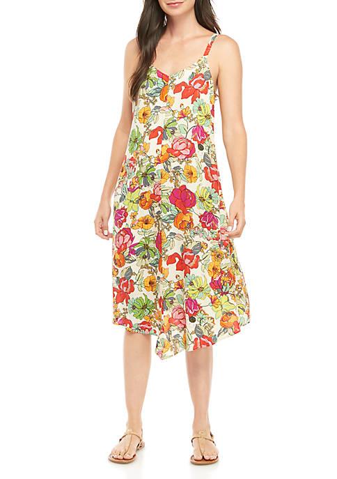 Floral Print Challis Dress
