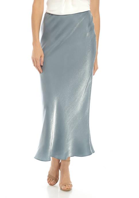 Womens Liquid Shimmer Skirt