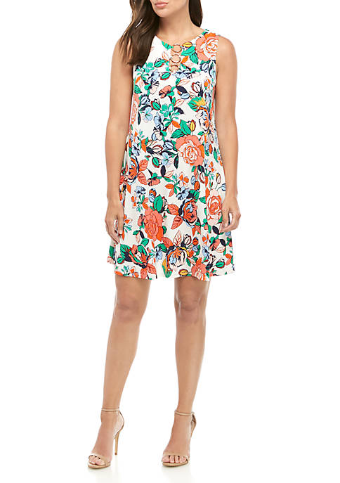 3 Ring Floral A Line Dress