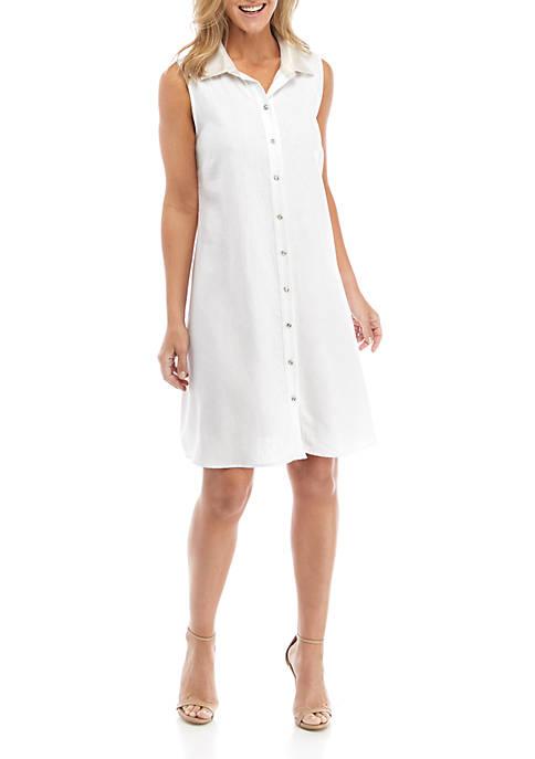 Womens Linen Shirt Dress