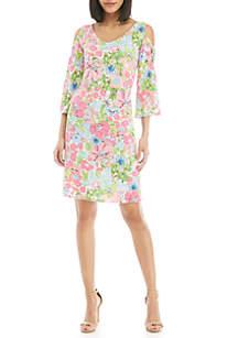 50fc885e812 ... IVY ROAD 3 4 Flare Sleeve Cold Shoulder Dress