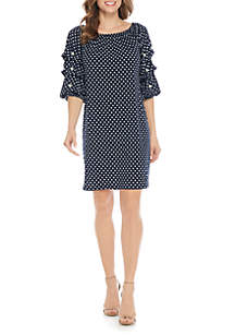 Off The Shoulder with Pearl Polka Dot Dress