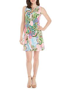 MSK Printed Trapeze Dress