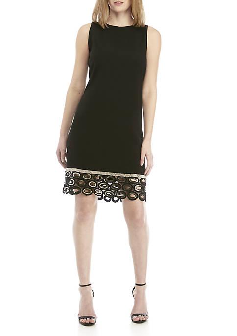 MSK Sleeveless A-Line Dress with Cutout Hem