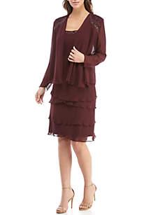 Bead Embellished Jacket Dress
