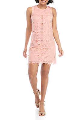 4422954597d93 Speechless Sleeveless Lace Shift Dress ...