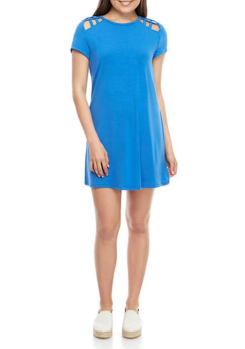 Short Cut Out Sleeve Dress