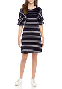 Speechless Stripe Knit Shift Dress