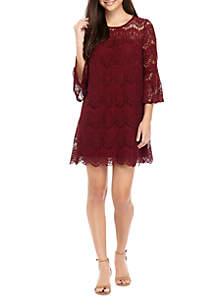 3/4 Sleeve Lace Dress