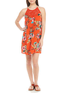Crochet Yoke Floral Dress