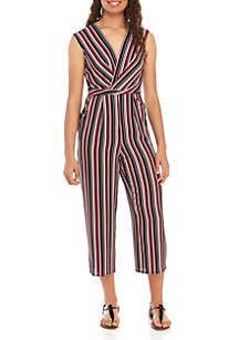 Speechless Twist Front Stripe Jumpsuit