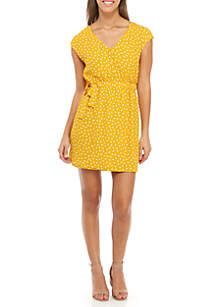 Polka Dot Cap Sleeve Dress