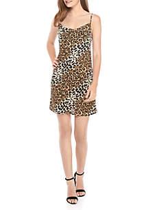 Speechless Animal Print Tank Dress