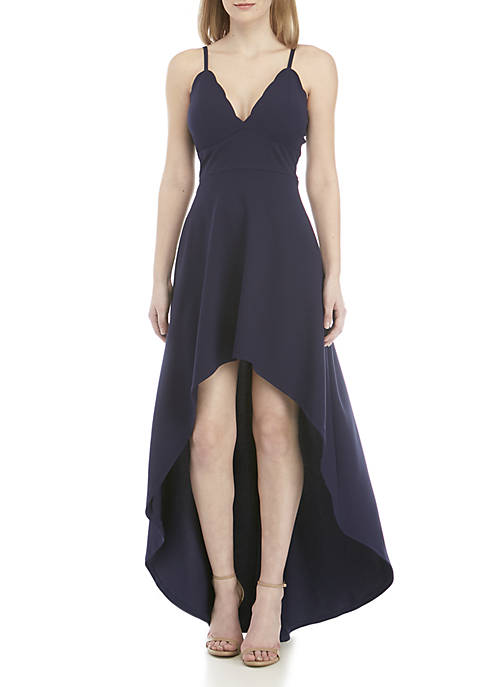 Scallop High Low Hem Gown