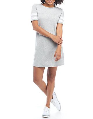 Varsity Short Sleeve T Shirt Dress