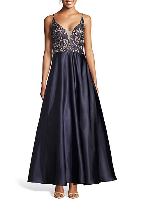 Sequin Lace Bodice Ballgown