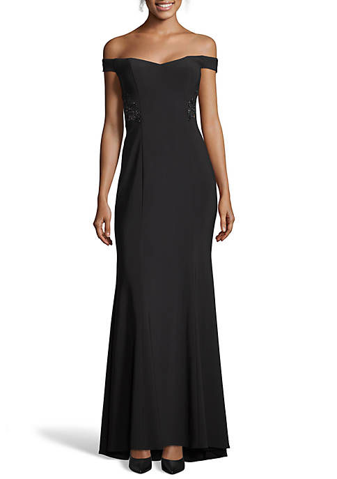 Blondie Nites Off the Shoulder Jersey Gown