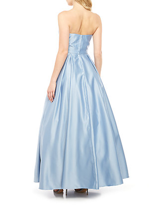 b948b948a Blondie Nites. Blondie Nites Strapless Satin Embellished Pocket Ball Gown