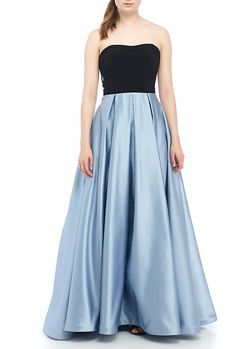 Blondie Nites Strapless Two-Tone Ball Gown