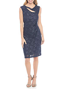 Allover Sequin Lace Dress