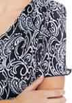 Womens Short Sleeve Tier Bodre Print Dress