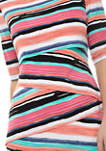 Womens Multi Stripe Tiered Sheath Dress