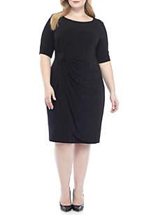 Plus Size Matte Jersey Wrap Dress