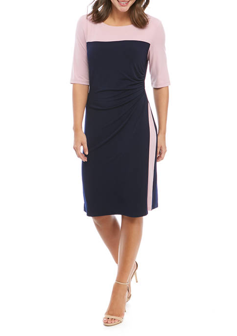 Connected Apparel Womens Color Block Dress