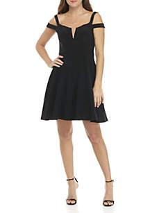 Off-The-Shoulder Short Dress