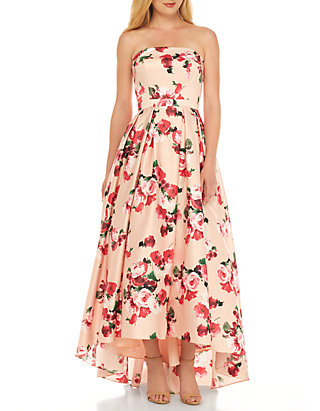 9caff14b Xscape Strapless High Low Floral Bustier Dress | belk