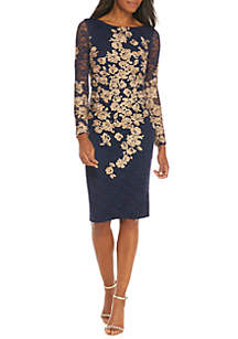 Embroidered Lace with Bell Sleeves