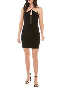 Xscape X Front Jersey Sheath Cocktail Dress