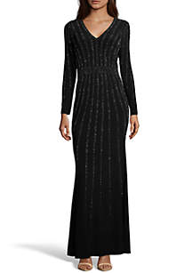 a86741f6 Xscape Beaded Jersey Gown · Xscape Long Beaded Gown