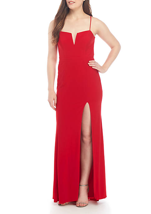 Sleeveless ITY Long Gown