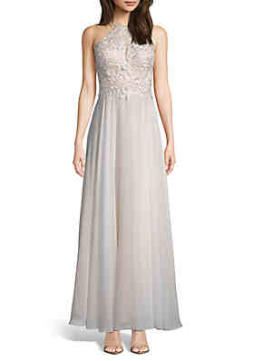 f0f232af Xscape Embroidered Bodice Chiffon Gown ...