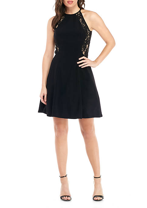 Xscape Embroidered Mesh Cocktail Dress   belk