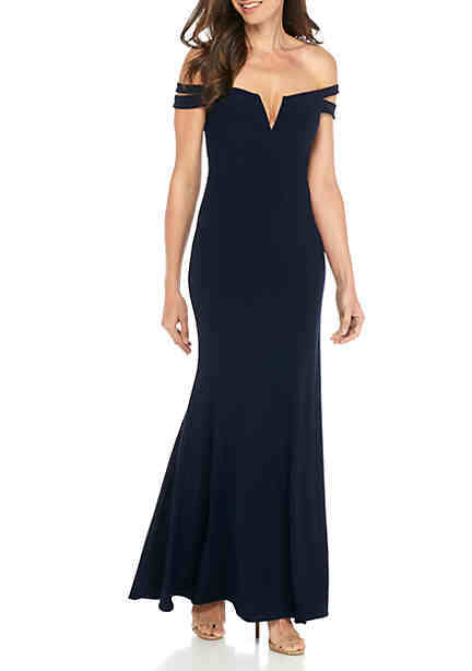 Xscape Off The Shoulder Gown