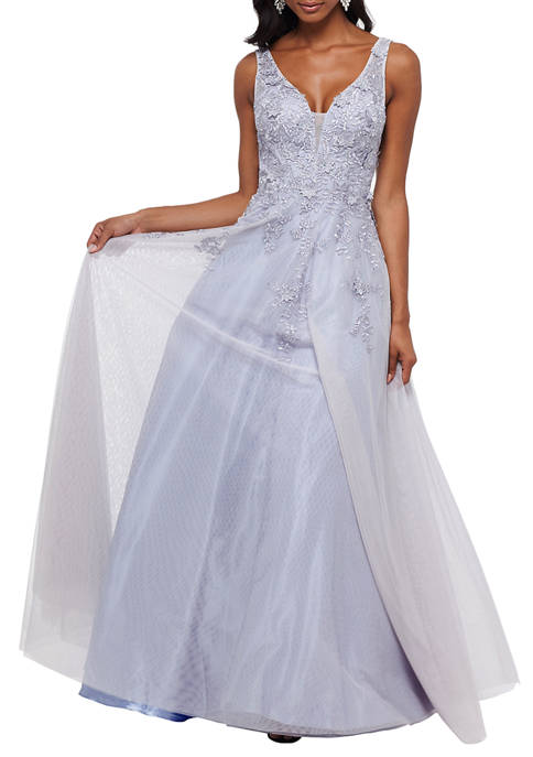 Bead Embellished Embroidered Ball Gown