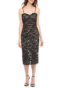 Lace Midi Sheath Dress