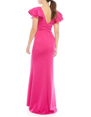 Women\'s Short Sleeve Ruffle Mermaid Gown