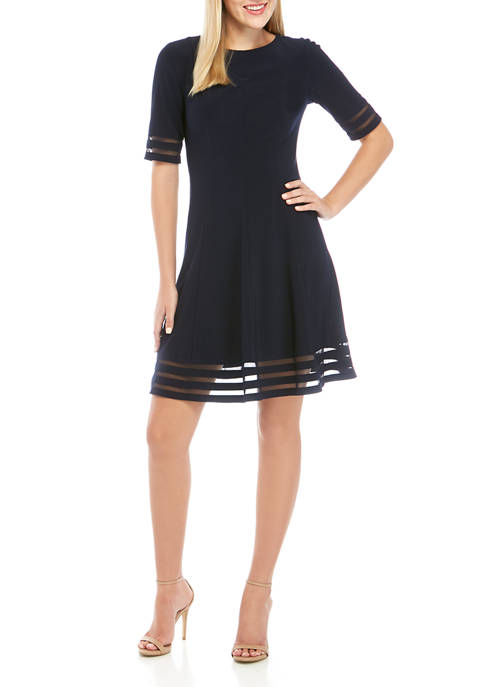 Jessica Howard Womens Short Sleeve Illus Hem Woven