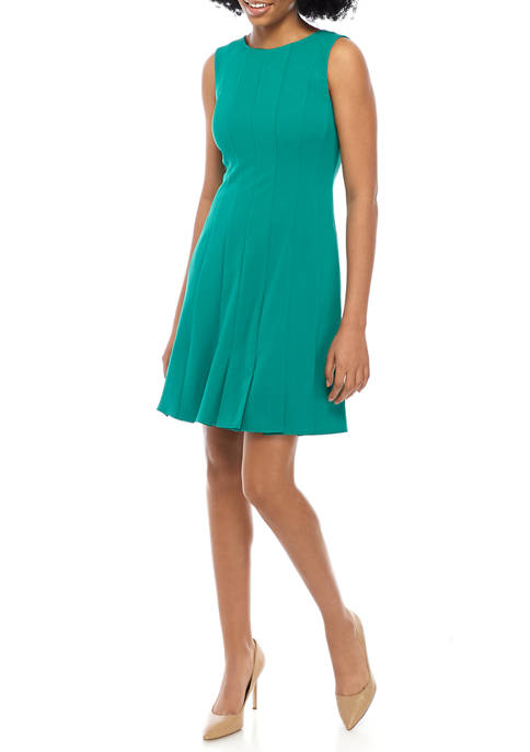 Jessica Howard Womens Sleeveless Fit and Flare Dress