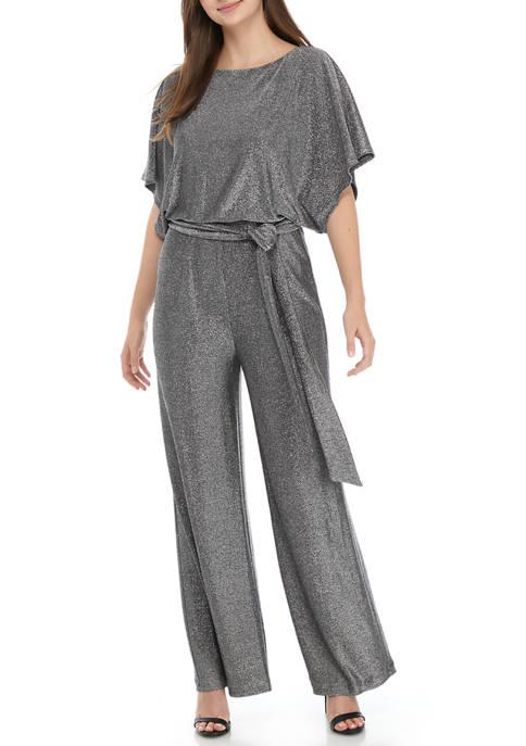 Jessica Howard Womens Dolman Sleeve Blouson Jumpsuit with