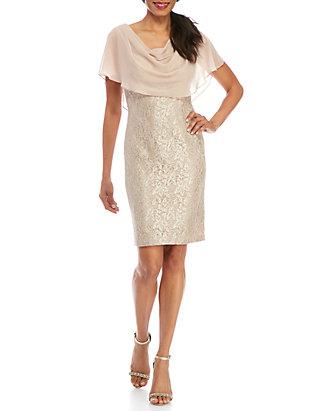 9cffa588e7a Jessica Howard. Jessica Howard Lace Sheer Overlay Dress