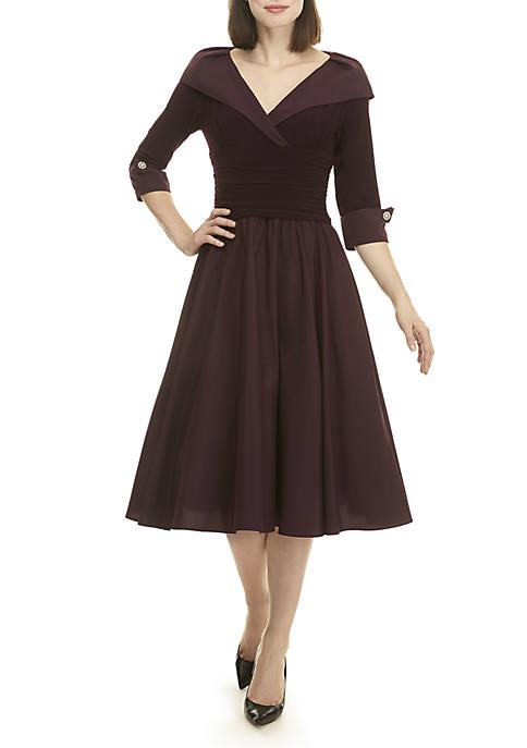 Womens 3/4 Sleeve Cocktail Dress