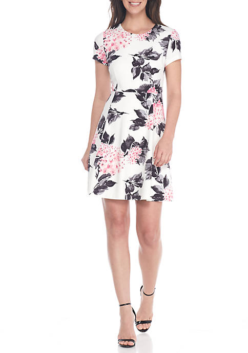 J Howard Floral Fit-and-Flare Dress