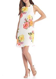 Floral Print Trap Dress